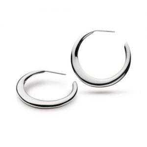 Kit Heath Sterling Silver Bevel Curve Hoop Earrings | Jewellery