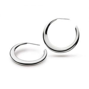 Kit Heath Sterling Silver Bevel Curve Hoop Earrings | Jewellery