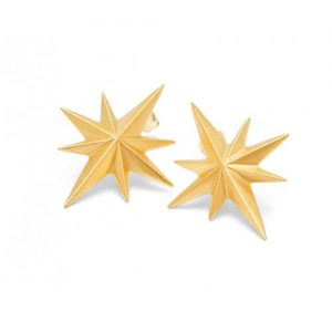Louise Kragh Gold Vermeil Compass Star Stud Earrings | Jewellery