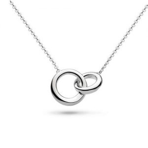 Kit Heath Jewellery Silver Double Bevel Loop Necklace
