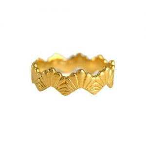 Rosie Kent Jewellery Gold Vermeil Loggia Stacking Ring