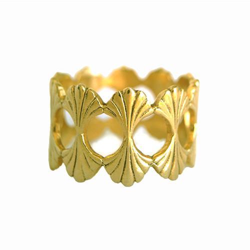 Rosie Kent Jewellery Gold Vermeil Temple Ring
