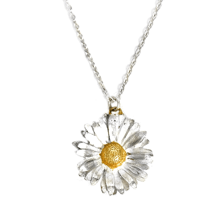 Alex Monroe Jewellery Daisy Necklace | Silver and Gold Vermeil