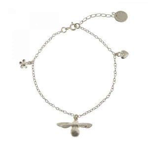 Alex Monroe Jewellery Silver Baby Bee Bracelet
