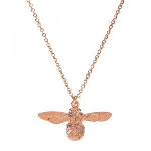 Alex Monroe Rose Gold Baby Bumblebee Necklace