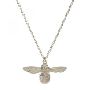 Alex Monroe Jewellery Silver Baby Bumblebee Necklace