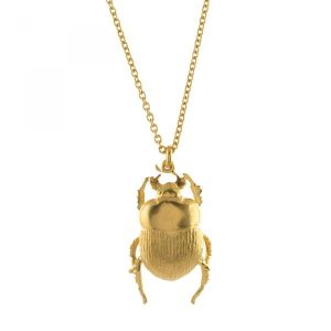 Alex Monroe Gold Dor Beetle Necklace
