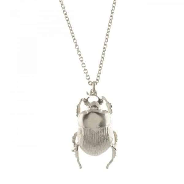 Alex Monroe Jewellery Silver Dor Beetle Necklace