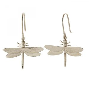 Alex Monroe Silver Dragonfly Drop Earrings | Jewellery