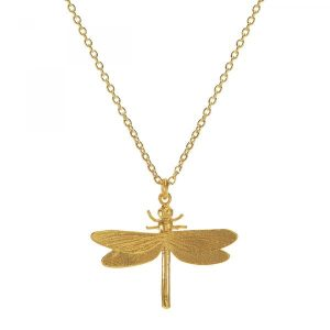 Alex Monroe Gold Dragonfly Necklace