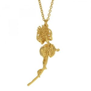 Alex Monroe Gold Harvest Mouse and Teasel Necklace