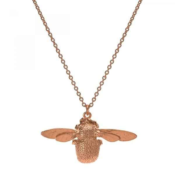Alex Monroe Jewellery Rose Gold Bumblebee Necklace