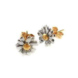 Alex Monroe Jewellery Daisy Stud Earrings