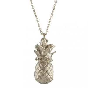 Alex Monroe Silver Pineapple Necklace