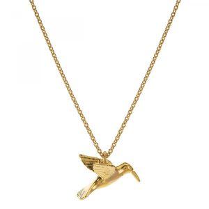 Alex Monroe Jewellery Gold Vermeil Hummingbird Necklace