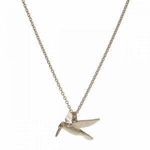 Alex Monroe Jewellery Silver Hummingbird Necklace