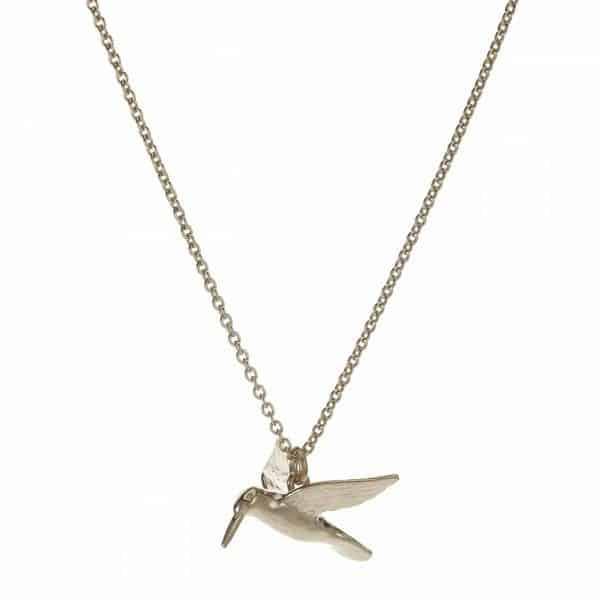 Alex Monroe Jewellery Silver Hummingbird Necklace