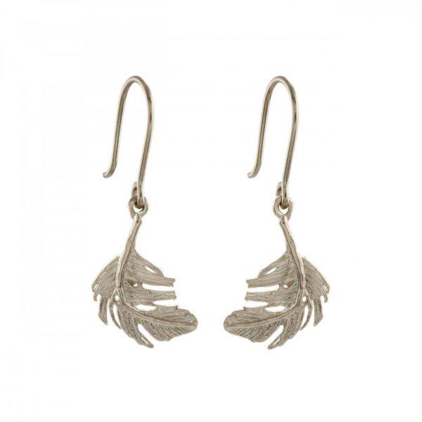 Alex MonroeJewellery Silver Little Feather Hook earrings