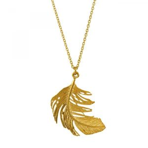 Alex Monroe Jewellery Gold Feather Necklace