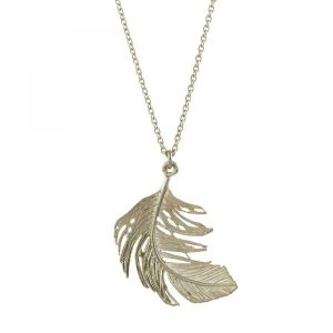 Alex Monroe Jewellery Silver Feather Necklace