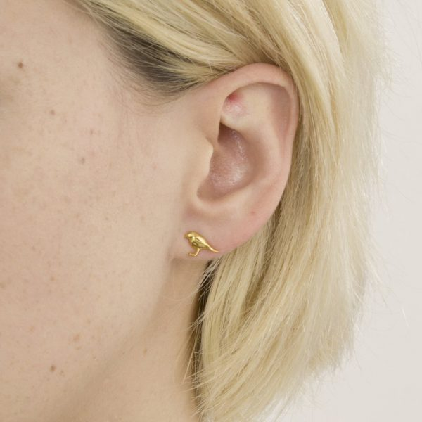 Alex Monroe Jewellery Little Robin Stud Earrings