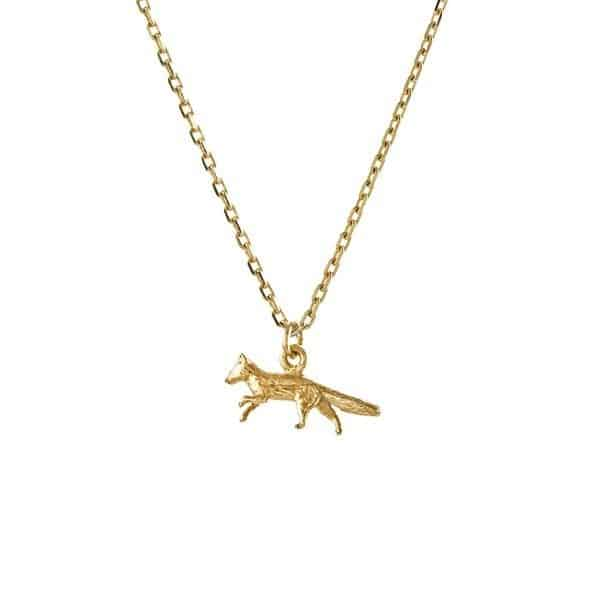 Alex Monroe Teeny Tiny Fox Necklace | Gold | Jewellery