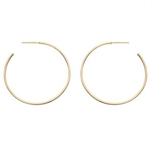 9 carat solid gold hoop earrings with a butterfly back.
