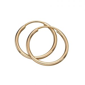 9 carat solid gold sleeper hoops.