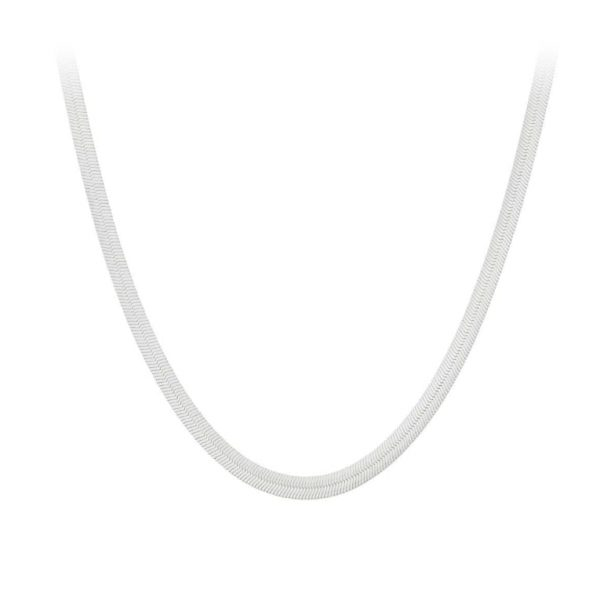 Sterling silver flat chain necklace, designed by Pernille Corydon