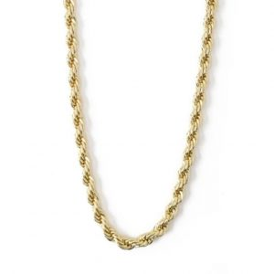 Gold plated brass chunky rope chain necklace, by Orelia London