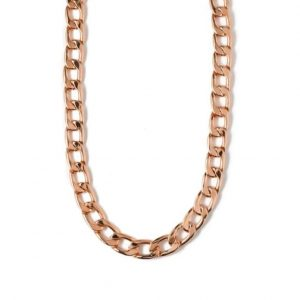 Rose gold plated brass chunky chain necklace, by Orelia London
