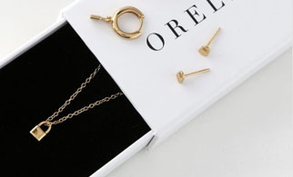 Orelia London jewellery including earrings, studs and necklace with branded box