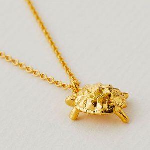 Alex Monroe gold tortoise necklace by Alex Monroe