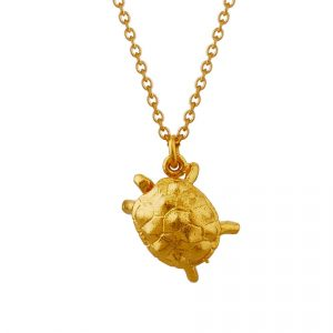 Gold Plated Racing Tortoise by Alex Monroe