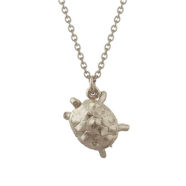 Sterling silver tortoise necklace silverado jewellery