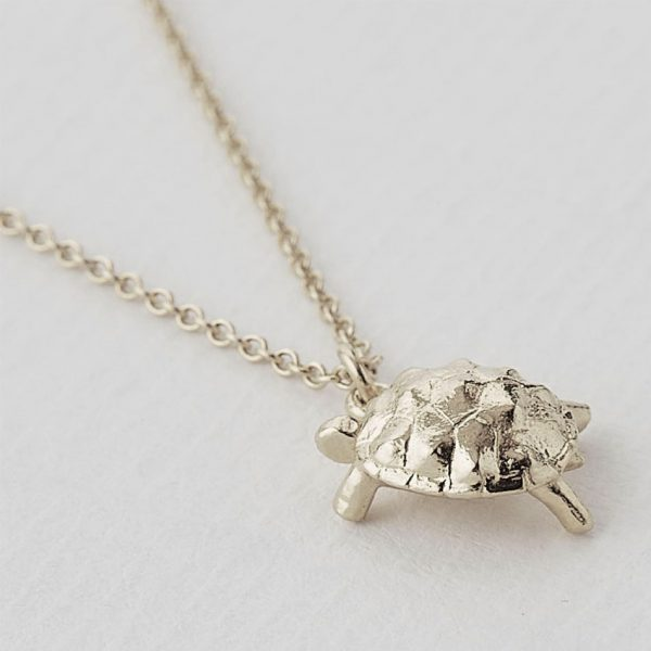Sterling silver racing tortoise necklace silverado jewellery