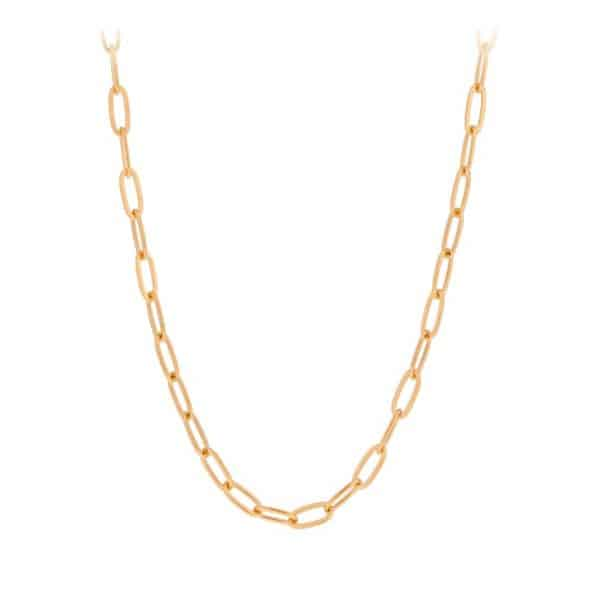 Gold plated large link necklace by Pernille Corydon