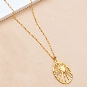 gold plated daydream necklace with sun details