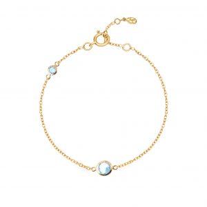 Luceir gold march birthstone bracelet