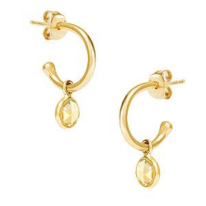 Luceir Gold November Birthstone Hoop Earrings