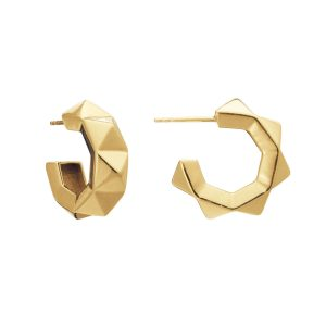 Rachel Jackson Chunky gold plated hoop earrings
