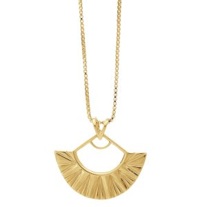 Rachel Jackson Medium art deco fan necklace