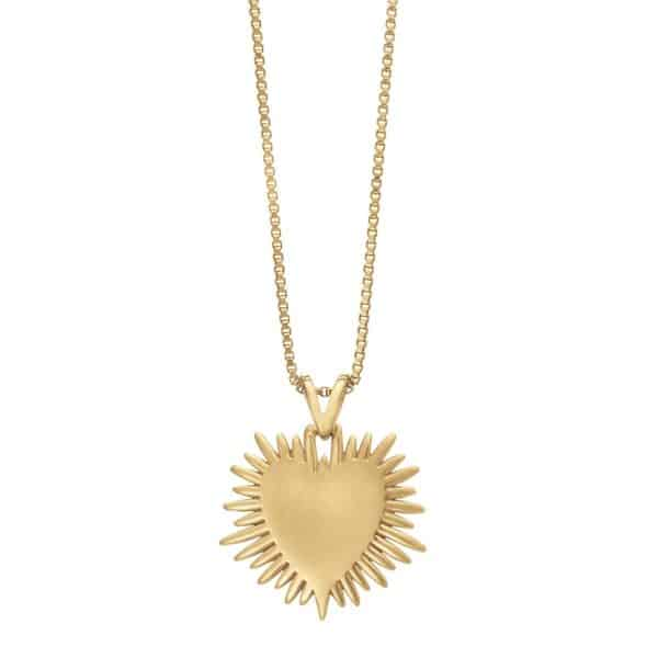 back view of rachel jackson electric goddess heart necklace
