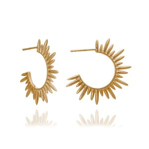 Rachel Jackson sunray midi hoop earrings from silverado