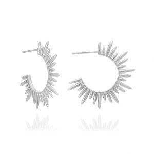 sterling silver sunray hoop earrings from Rachel Jackson