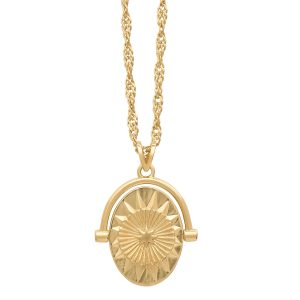 Gold north star spinner necklace from Rachel Jackson