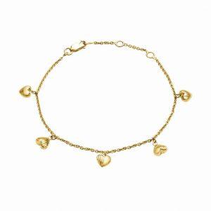 Dainty heart bracelet from Rachel Jackson at Silverado Jewellery