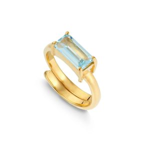SVP Nirvana blue topaz ring
