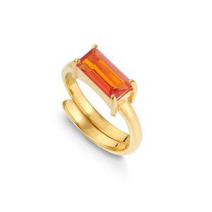 SVP jewellery Nirvana large pink quartz gold ring
