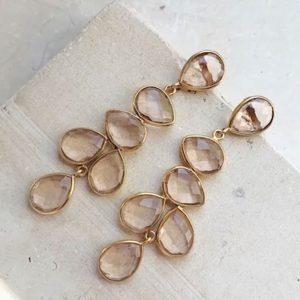 Shyla London Jewellery Sheena Champagne Earrings